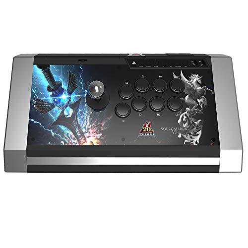 Arcade stick Qanba - Obsidian - édition Soulcalibur 6 - Pro Fightstick avec boutons/Joystick Sanwa compatible PS3/PC - prise jack 3,5 mm
