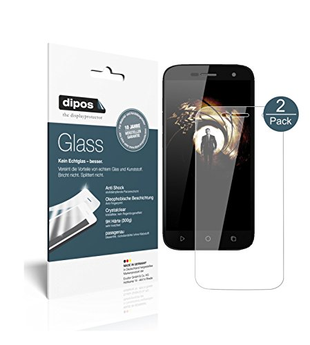 dipos I 2X Protector de Pantalla Compatible con Ulefone U007 Pro Vidrio...