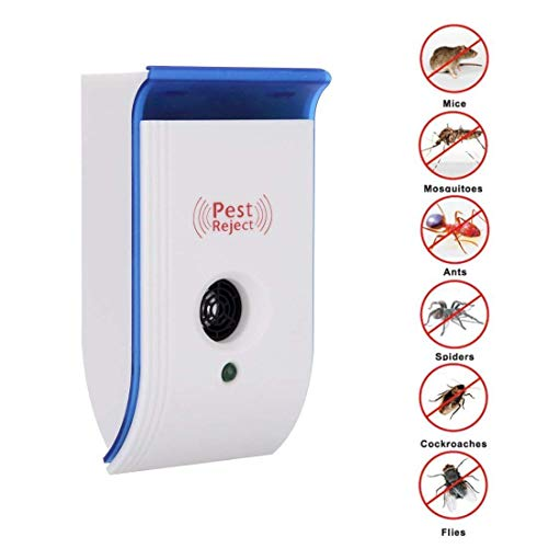ShopCentre Electronic Ultrasonic Pest Repellent for Mosquitoes, Mice, Ants, Roaches, Spiders, Flies, Bugs