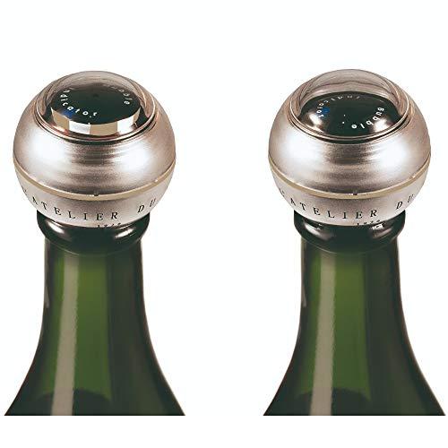 L'Atelier du Vin 095075-5 Tappo Tecnico indicatore Bolla, Glass, Grigio, 0,7 cm x h 2,5 cm