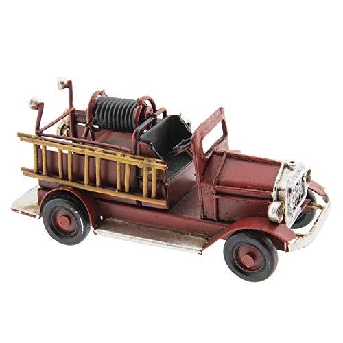 Clayre & Eef AU0032 model brandweerauto ladder slang ca. 12 x 4 x 5 cm vintage decoratie.