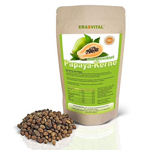 Papaya-Kerne 50g Papaya-Samen ACHTUNG! KEINE HYBRID SAMEN daher SEHR INTENSIVER natürlicher BITTERER Geschmack! natur schonend getrocknet Rohkost Laborgeprüft