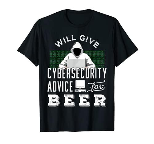 Divertente Hacker etico con design della birra per uomo Maglietta