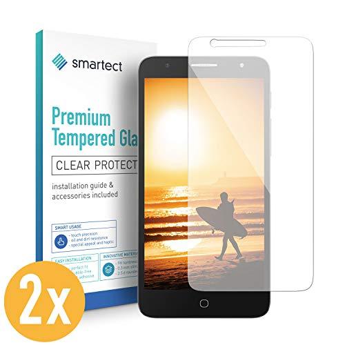 smartect Panzerglas kompatibel mit Alcatel Pop 4 Plus [2 Stück] - Bildschirmschutz mit 9H Festigkeit - Blasenfreie Schutzfolie - Anti Fingerprint Panzerglasfolie