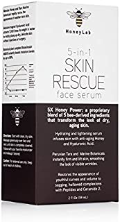 HoneyLab Skin Rescue Face Serum with Manuka Honey, Hyaluronic Acid and peptides. Anti-aging serum contains Marine extracts...