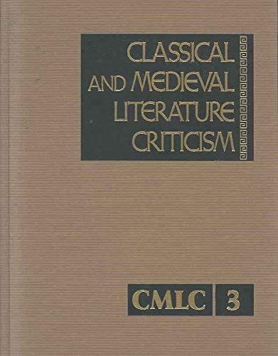 Compare Textbook Prices for Classical and Medieval Literature Criticism, Vol. 3  ISBN 9780810323520 by Krostovic, Jelena