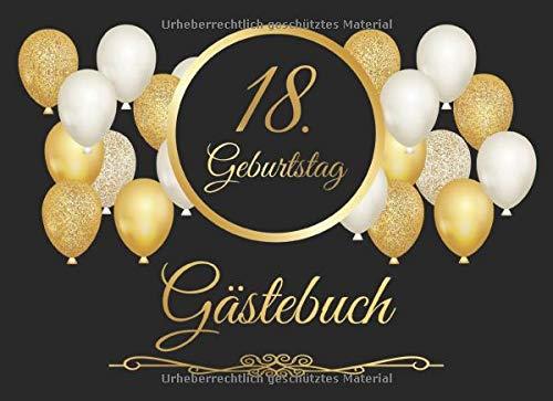 18. Geburtstag Gästebuch: Vintage Gästebuch Zum Eintragen und zum Ausfüllen für Glückwünsche...