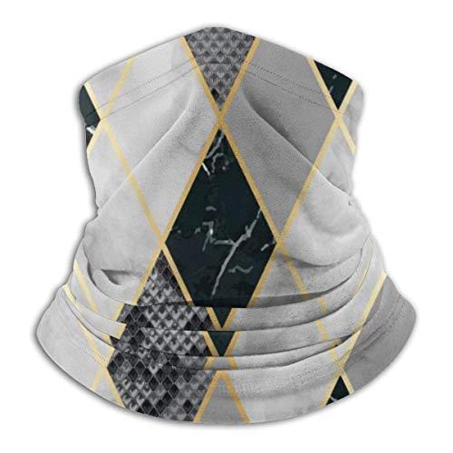 asdew987 Mármol y piel de serpiente geométrica sin costuras para el cuello, sombrero, máscara solar, bufanda mágica, bandana, pasamontañas, diadema para deportes