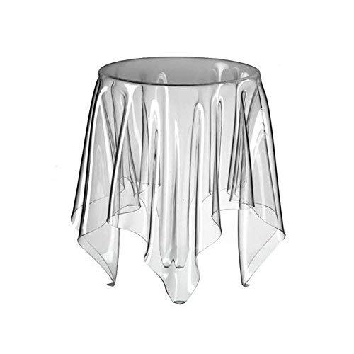 Essey Beistelltisch Illusion, handgearbeiteter Sofatisch, Design Beistelltisch, Acryl, rund Ø32cm x 44 cm, transparent
