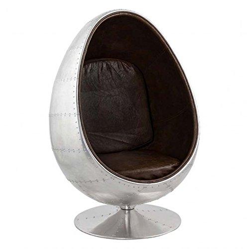Paris Prix - Fauteuil Design Aviator Eggs 130cm Argent