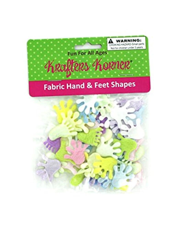 StealStreet SS-KI-CC234 Craft Fabric Hand and Feet Shapes