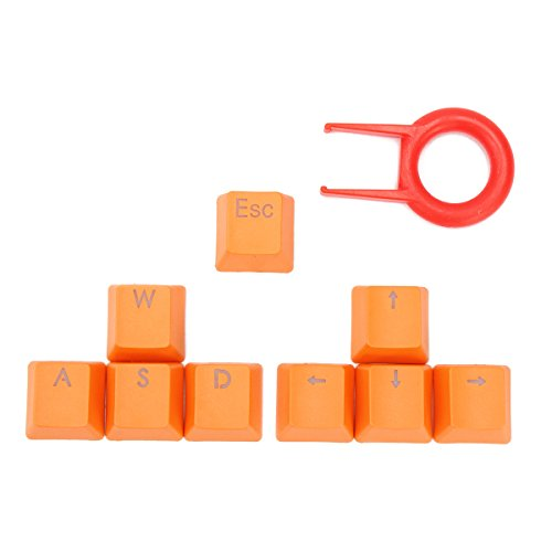Tutoy Orange 9 Chiavi Pbt Retroilluminate Trasmissione Tastiere per Cherry MX Tastiera Meccanica - arancia