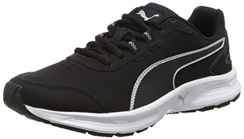 Puma Descendantv4slf6 - Zapatillas de Atletismo Unisex Adulto, Color Negro (Black/Silver 02black/Silver 02), Talla 39 EU