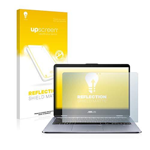 upscreen Entspiegelungs-Schutzfolie kompatibel mit Asus VivoBook Flip 14 TP410UR – Anti-Reflex Bildschirmschutz-Folie Matt