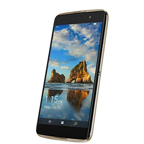 Alcatel 6077X-2BALWE7 13,97 cm (5,5 Zoll) Idol 4 Pro Smartphone (21MP Kamera, 64GB Speicher, Win Continuum) Gold