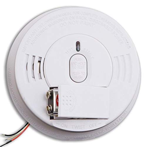 Kidde Smoke Detector, Hardwired Smoke Alarm with Battery Backup, Test-Silence Button