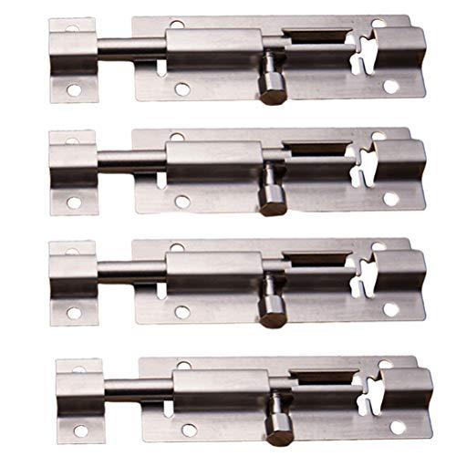 Kinter deurbeveiligings- schuifvergrendelingscilinderschroef met massief hoogwaardig staal geborsteld nikkel afwerking deurvergrendeling schuiven voor kasten
