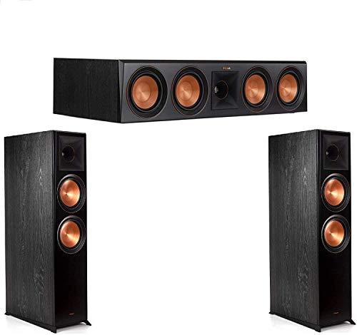Klipsch (1 Pair) RP-8060FA Floorstanding Speaker with Dolby Atmos - Each (Ebony) RP-504C Center Channel Speaker (Ebony) Bundle