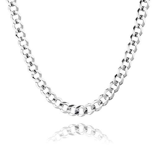 STERLL Herren Halskette Sterling-Silber 925 55 cm Ohne Anhänger Schmucketui die Besten Männer Geschenke