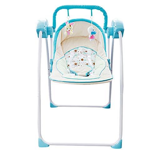 Qi Tai Wiege Stuhl Baby elektrische Wiege elektrische Schaukelstuhl Baby Shaker Baby Schaukelstuhl Kinder Schaukelstuhl blau Baby Schaukelstuhl