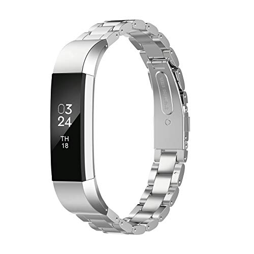 Greeninsync Compatible with Fit Bit Alta HR Bands and Fit Bit Alta Bands,Stainless Steel Jewelry Bracelet Band for Fit Bit Alta HR and Fit Bit Alta Smartwatch Fitness Tracker for Women Men Girls Boys