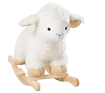 Oveja balancin roba, 'oveja' con suave tapizado, asiento balancin para niños pequeños, utilizable a partir de los 18 meses.
