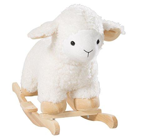 roba Schaukelschaf, Schaukeltier 'Schaf' mit weicher Stoff-Polsterung, Schaukelsitz für Kleinkinder, Schaukelspielzeug ab 18 Monate