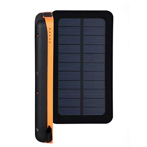 HGYJ Cargador De TeléFono Celular Solar 16000mah, Adecuado Todos Los TeléFonos Celulares Y Tabletas. Cargador MóVil Solar Compatible con Otros Productos Digitales Dc-5v con Entrada USB,Black
