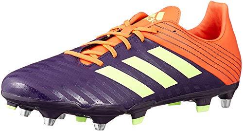Adidas Malice FG - Botas de Rugby, Color Negro, Morado (Púrpura), 42.5 EU