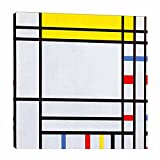 Piet Mondrian 《place de la concorde》 Cuadro en Lienzo  Lienzos Decorativos   Cuadros Decoración Dormitorios Salón   Cuadros y láminas   Listos para Colgar (100x100cm (39x39inch), enmarcado)