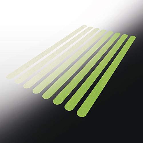 Antirutschstreifen für Treppen, selbstklebend, farbig, 30x640 mm, 8 Stück Anti Rutsch Streifen/Rutschschutz Treppe, Treppenstufen Antirutsch (Nachleuchtend)