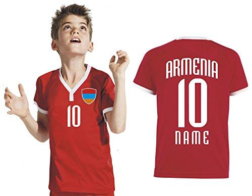 Aprom-Sports Armenien Kinder Trikot - Hose Stutzen inkl. Druck Wunschname + Nr. RRR WM 2018 (152)