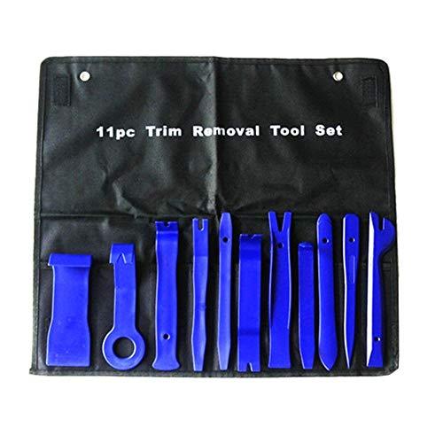 W Combinación de juego de herramientas manuales de coches de desmontaje del sistema de herramientas de DVD Estéreo Volver a montar kits interior de plástico Panel de revestimiento de tablero de instru