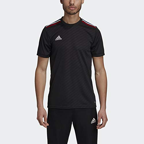 adidas Men's Soccer Tiro Jersey Black/Power Red/White/Bold Blue XXXX-Large