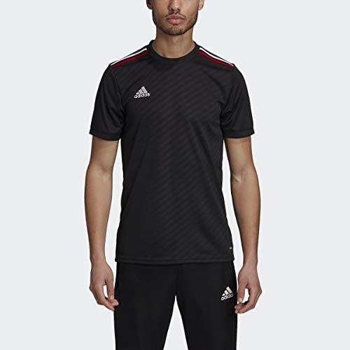 adidas Men's Soccer Tiro Jersey Black/Power Red/White/Bold Blue Medium