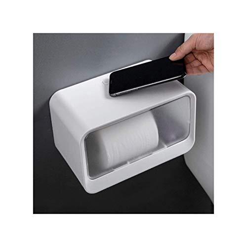 ZHANG Caja Pequeña de Papel Higiénico Impermeable,Caja de Papel en Rollo No Perforada,Soporte de Papel Higiénico de Forma Simple,Multifuncional,Grey