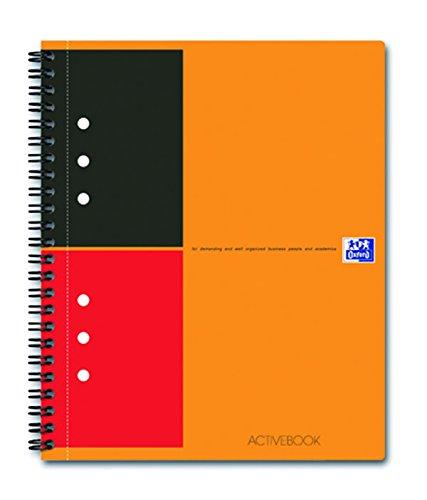 OXFORD 100104067 Activebook International A5+ liniert mit versetzbarem Register und Dokumententasche orange Spiralblock Collegeblock - clevere Organisation für Manager und Führungskräfte