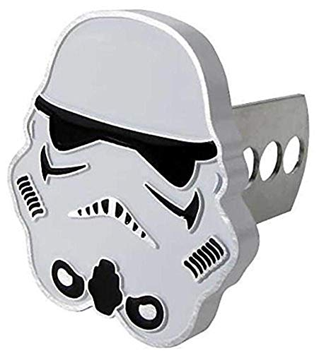 Plasticolor 002280R01 Star Wars Storm Trooper Metal Hitch Receiver Cover