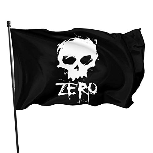 LZHANDA Garten Flaggen Flagge Fahne, 3x5 Foot Flag Zero Skateboards Skull Flag Vivid Color and UV Fade Resistant with Brass Grommets 3 X 5 Feet 3x5'' Flag