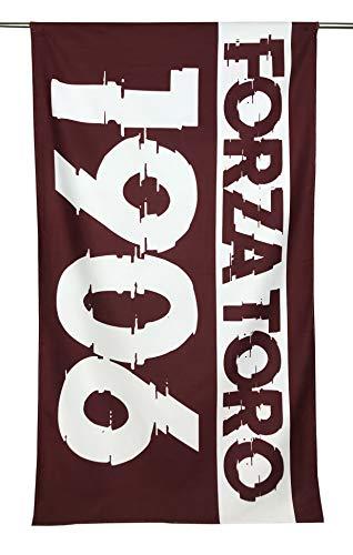 tex family - Toalla de Playa de Rizo con Texto Toro 1906', tamaño Grande 90 x 170 cm y Tarjeta Torino es estada y seguirá Siendo granulada.