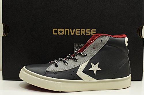 CONVERSE Pro Leather Vulc Mid sneakers PELLE WIND STORM GREY GRIGIO 650610C 35