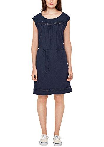 s.Oliver Damen 14.806.82.8041 Kleid, Blau (Dark Steel Blue 5835), 42