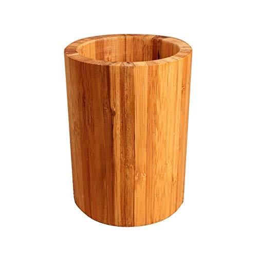 zyhzz Portapapeles De Oficina, Bambú Natural Y Escritorio De Madera Portaplumas Portaplumas, Color Madera, 10 * 13.5cm