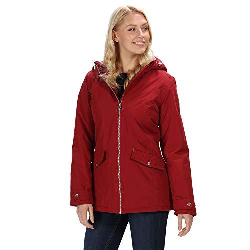Regatta Damen Bergonia wasserdichte Kunstfell-Futter Jacke isoliert XL Delhi Red