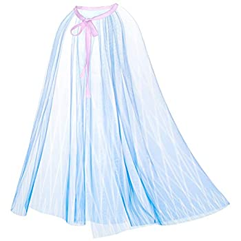 Princess Snow Queen Act 2 Birthday Party Cape Cloaks for Little Girls Dress Up White 3-8 Years  Light Blue One Size