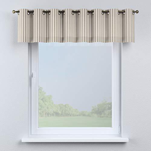 Dekoria Kurzgardine mit Ösen Schal Gardine Dekoschal 260 × 40 cm grau-Ecru