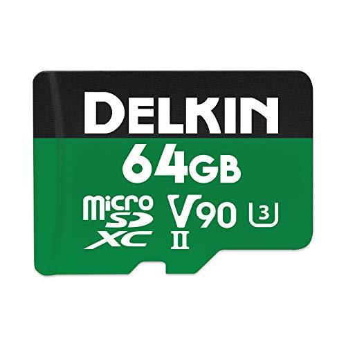 Delkin Devices 64GB Power microSDXC UHS-II (U3/V90) Memory Card