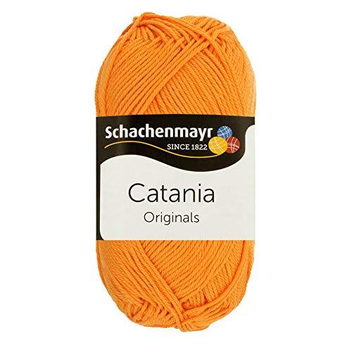 Schachenmayr Catania 9801210-00411 mango Handstrickgarn, Häkelgarn, Baumwolle