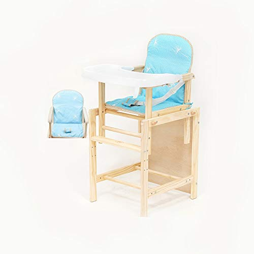 QIDI Baby Eetkamerstoel Vouwstoelen Multifunctionele Kinderstoel Massief Houten Stoel Verstelbare Hoogte Babytafel