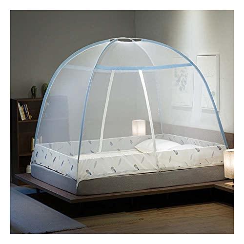 Meet World Pop Up Moskitonetz, tragbares Zelt Reise DREI Tür Reißverschluss Bett Netz, einfache Installation und feines Netz, perfekt für Schlafzimmer im Freien ,1,120*20OCM